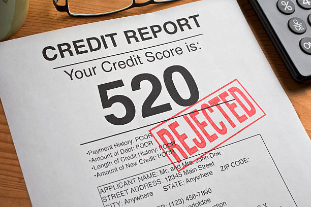 Rejected Credit Score stock photo