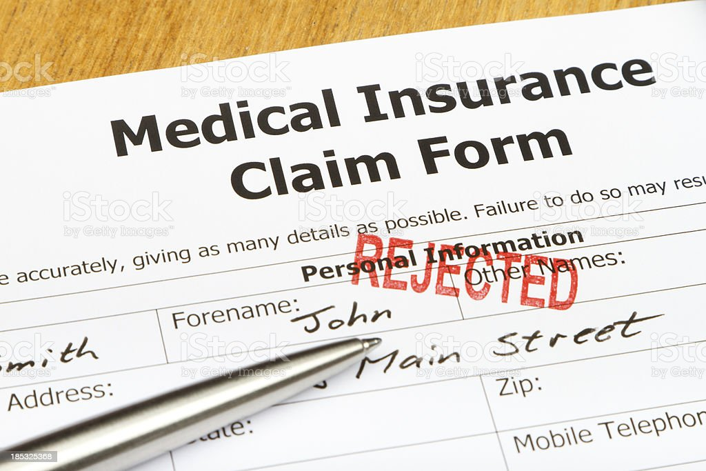 Rejected Medical Insurance Claim Form Stock Photo & More Pictures of on medical publications, project approval forms, disability benefits forms, long term care forms, medical exam form, medical office complaint form, medical financial responsibility form, medical terminology, medical records, medical patient list, health forms, retirement plan forms, handyman estimate forms, medical applications, workers compensation forms, owcp 1500 claim forms, ash physical therapy forms, medical statements, security forms, medical evaluation template,