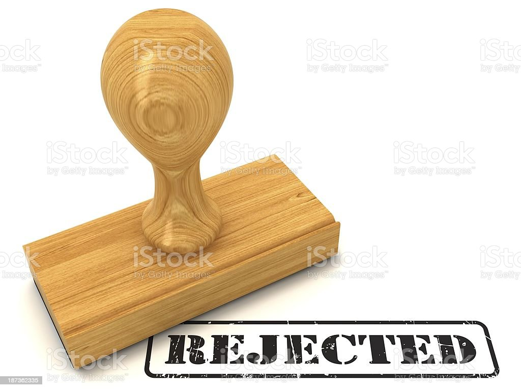 Rejected - rubber stamp stock photo