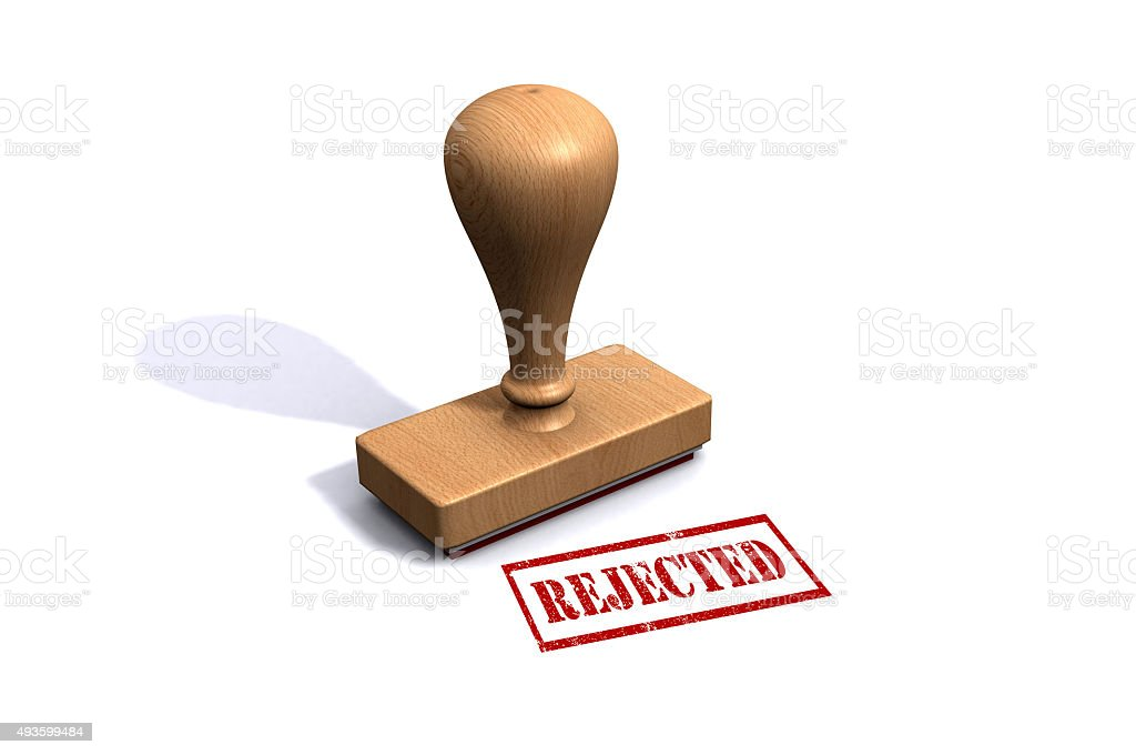 Rejected Rubber Stamp stock photo
