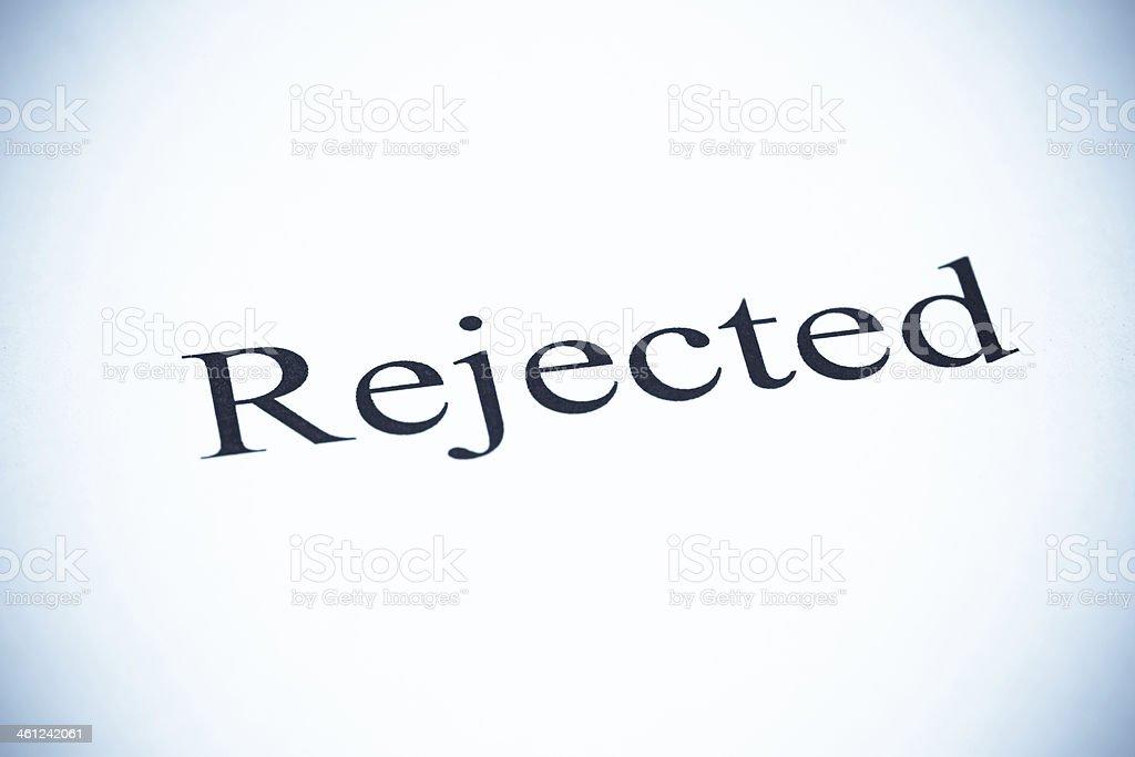Rejected - SeleniumTone stock photo
