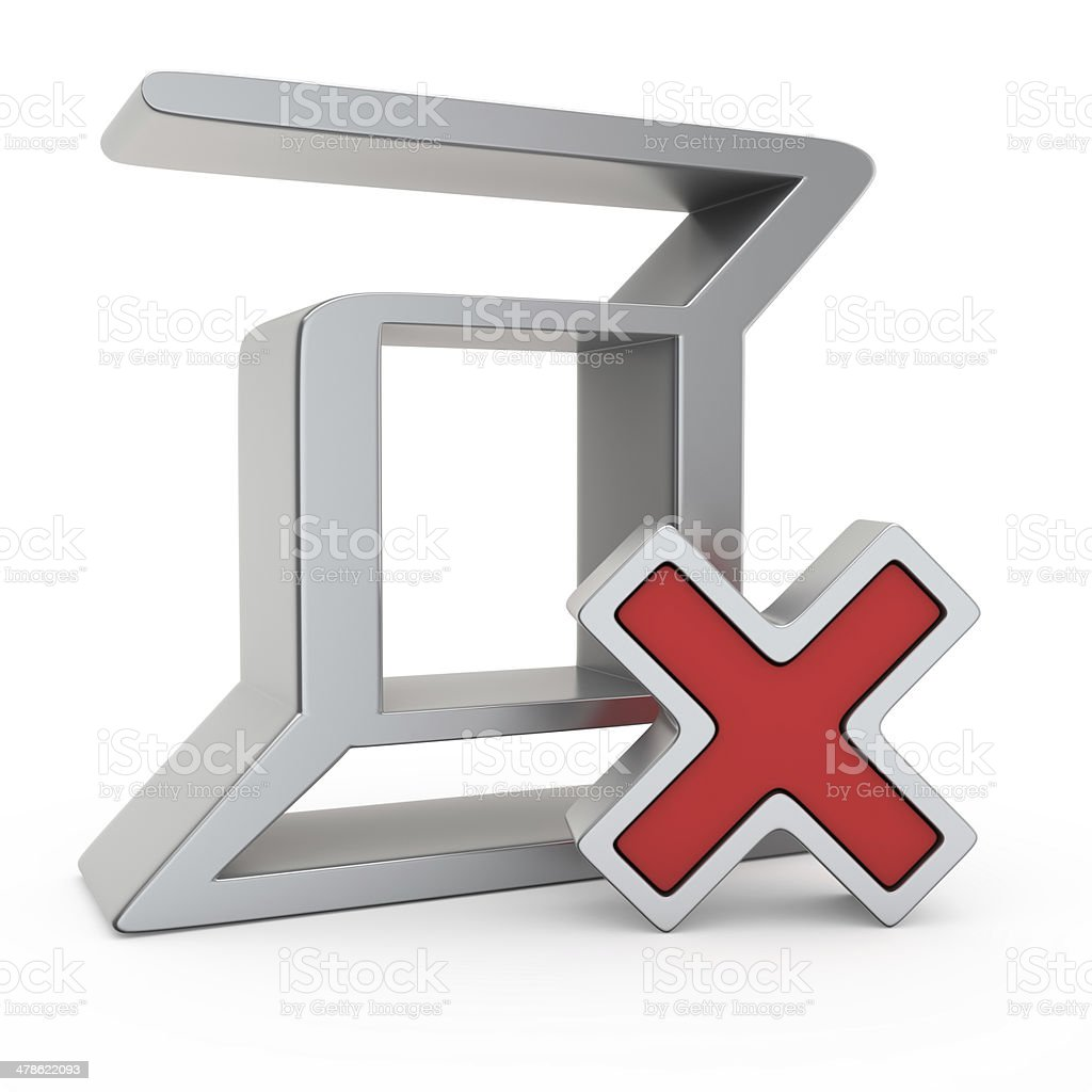 Rejected Zerocoin royalty-free stock photo