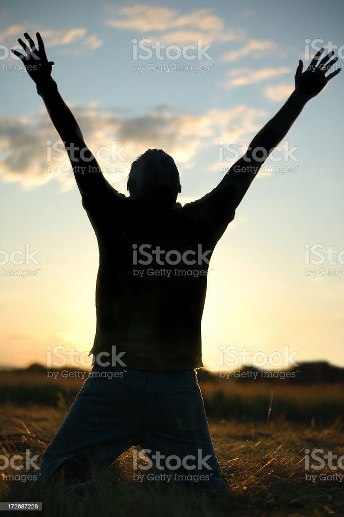 Rejoicing royalty-free stock photo