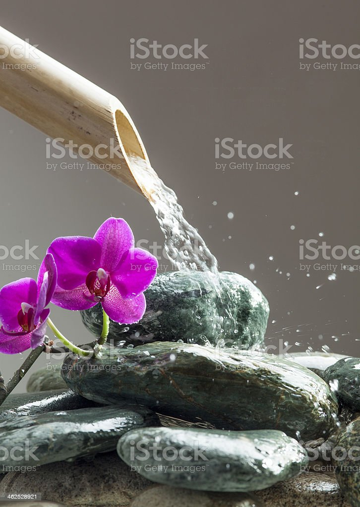 rejuvenating water stream with beauty edge stock photo