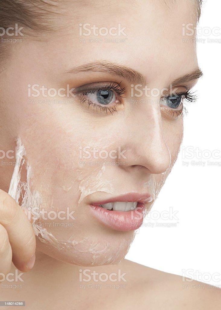Rejuvenation of skin stock photo