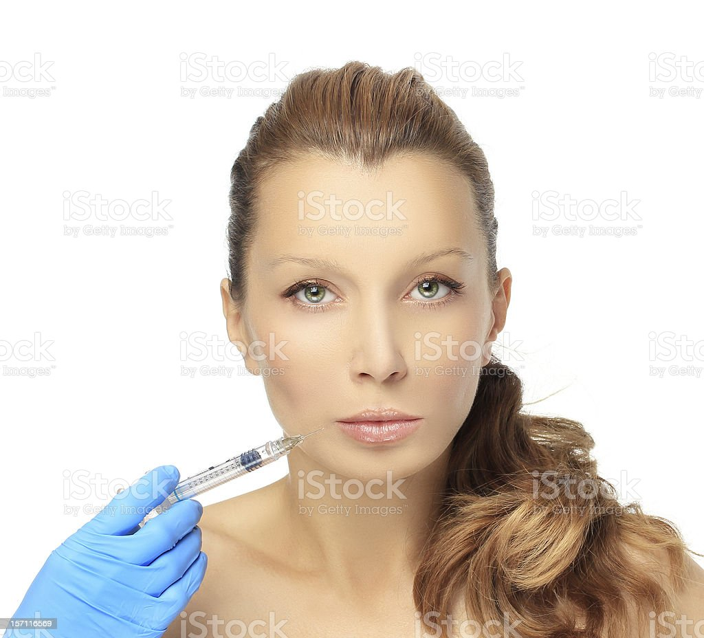 Rejuvenation.Injection  of beauty products royalty-free stock photo