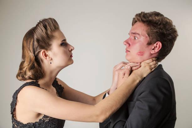 Chokes with woman legs man Woman chokes