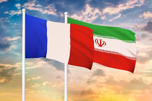 istock Relationship between the France and the Iran 1187335787