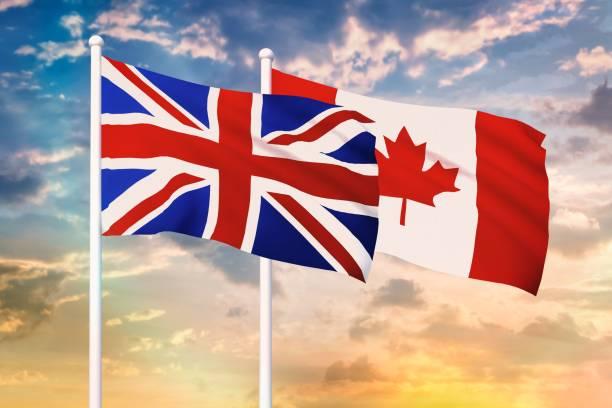 beziehungen zwischen dem vereinigten königreich und kanada - liebeskummer englisch stock-fotos und bilder