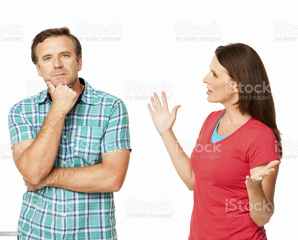 Relationship Difficulties - Isolated stock photo