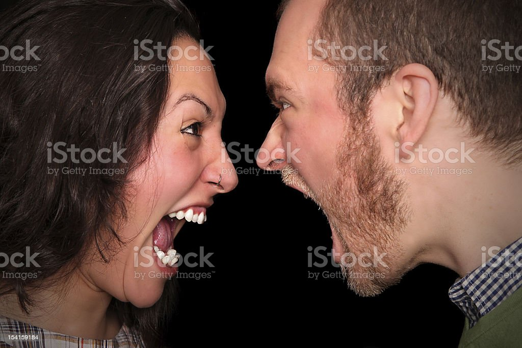 relationship difficulties ?! stock photo