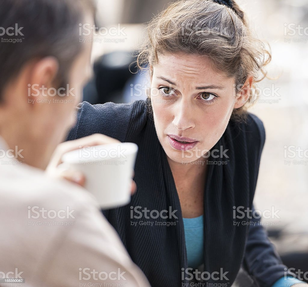 Relationship Discussion royalty-free stock photo