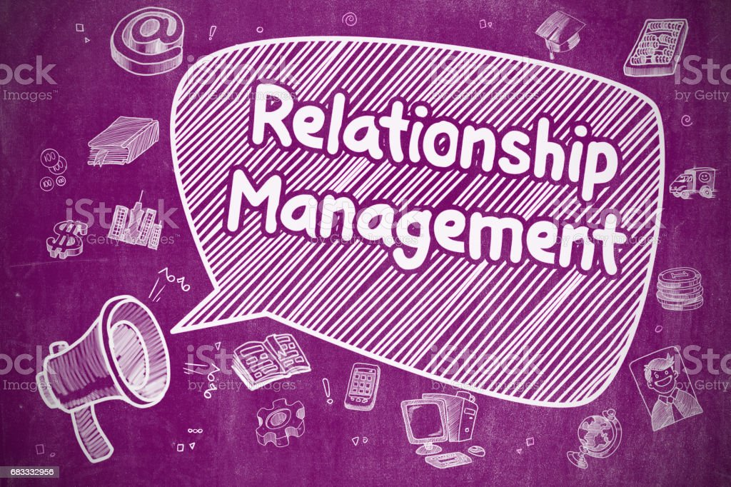 Relationship Management - Business Concept vector art illustration
