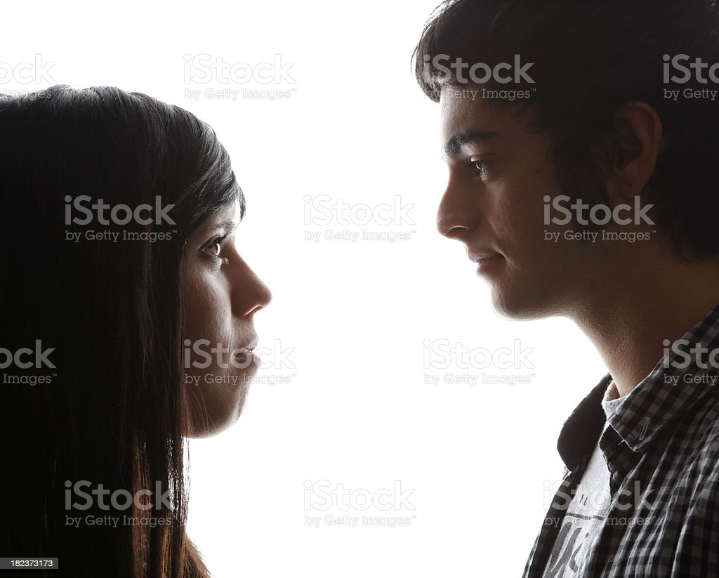 Relationship of a young couple royalty-free stock photo