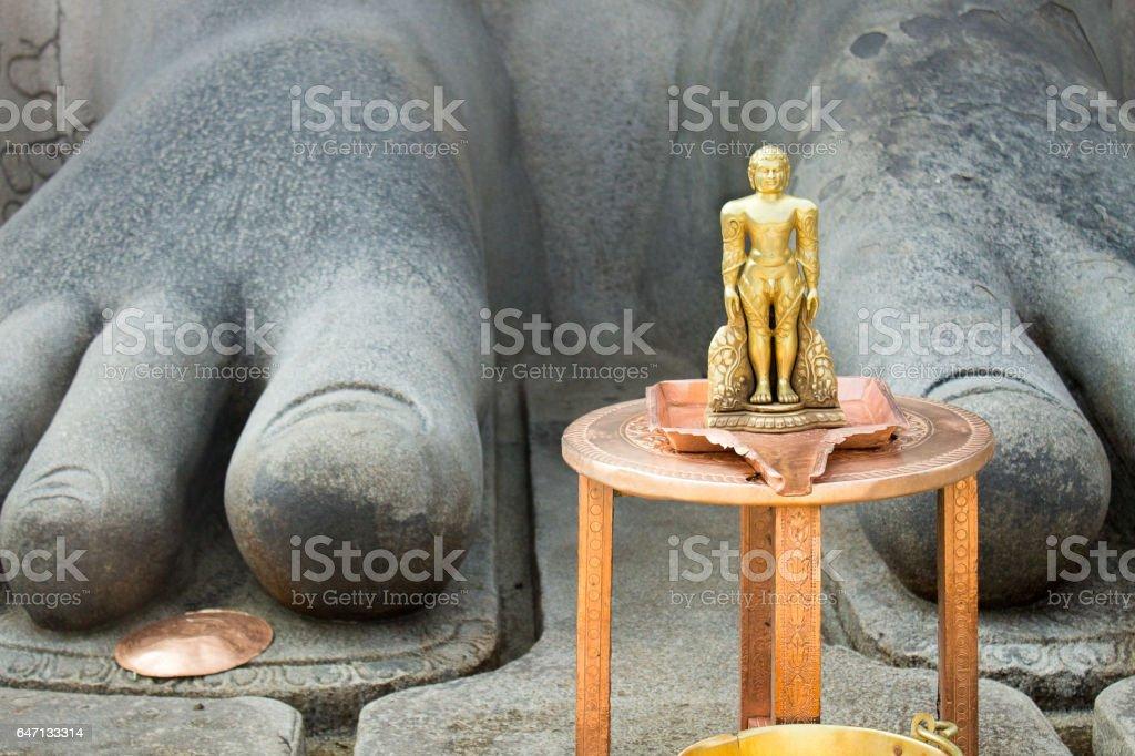 Relative Size: Sharavanabelagola stock photo