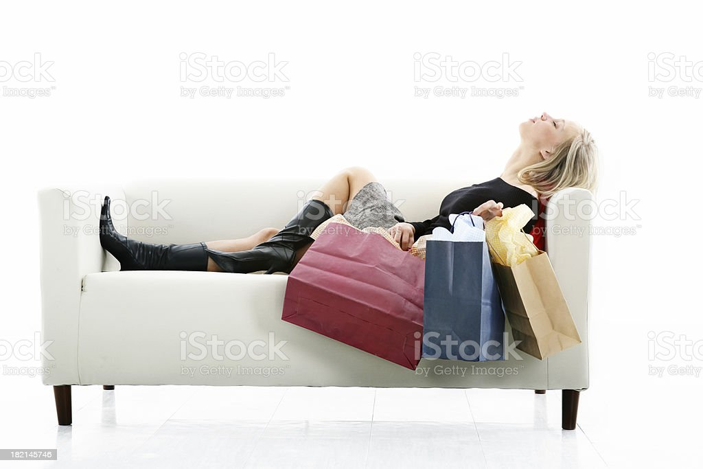 Relax after shopping royalty-free stock photo