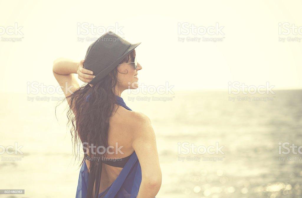 Relax against the sea (xxxl) royalty-free stock photo