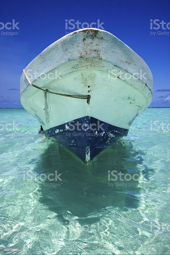relax and boat stock photo