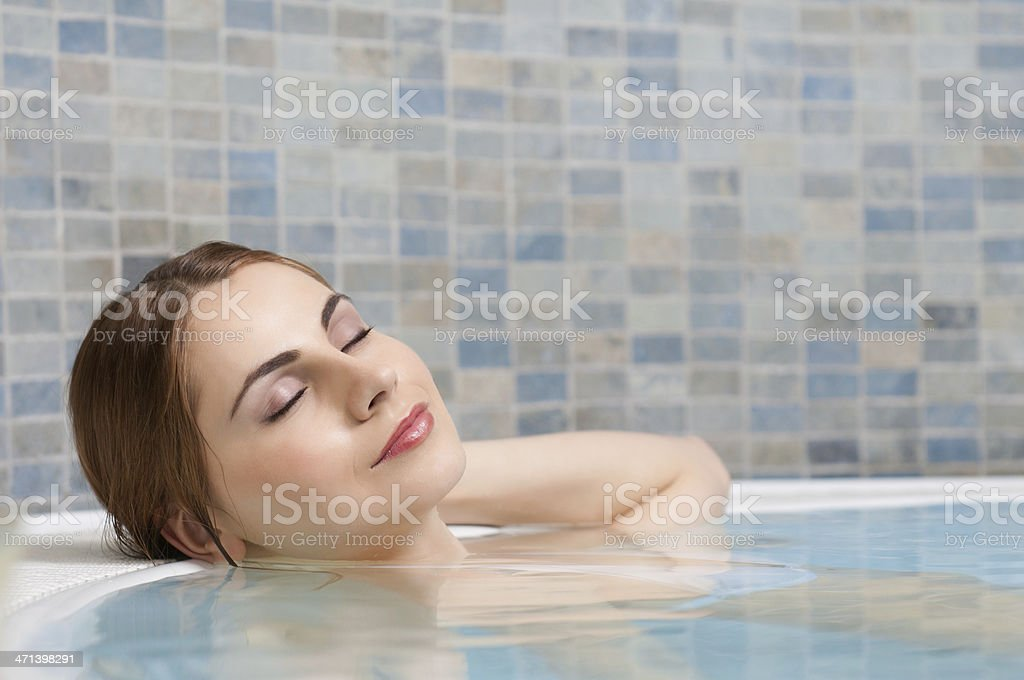 Relax at beauty center stock photo