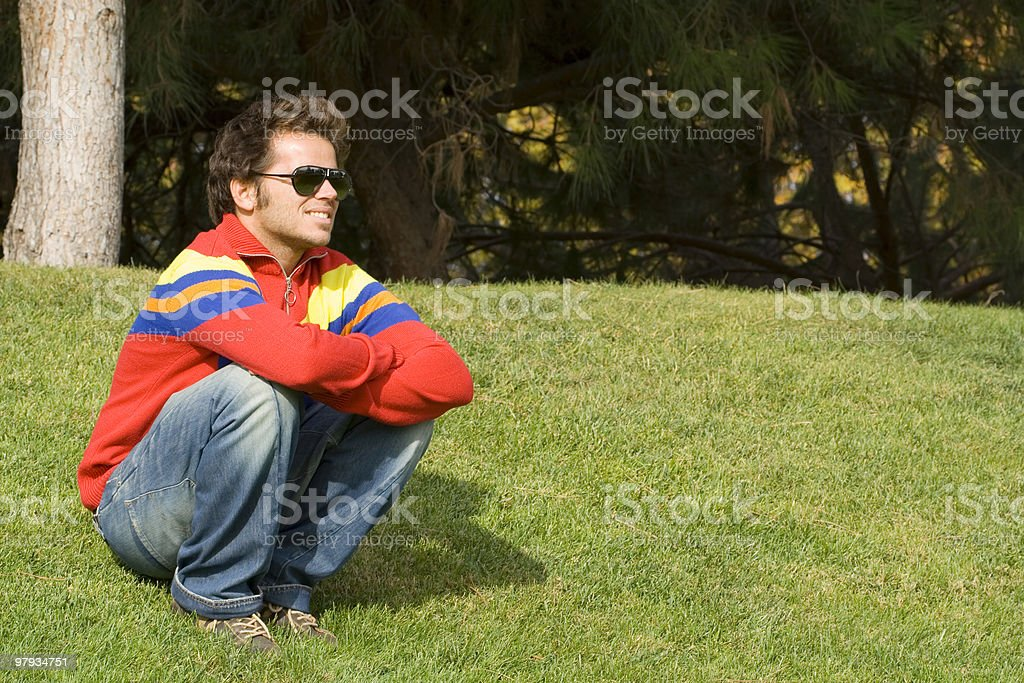 Relax at the park royalty-free stock photo