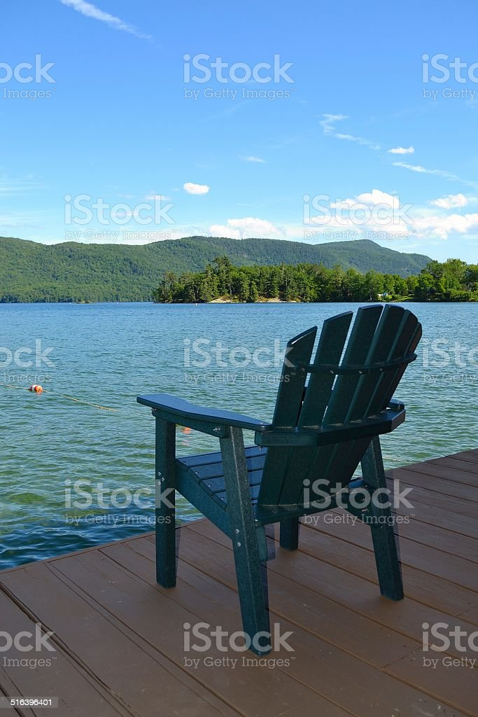Relax by Lake George stock photo