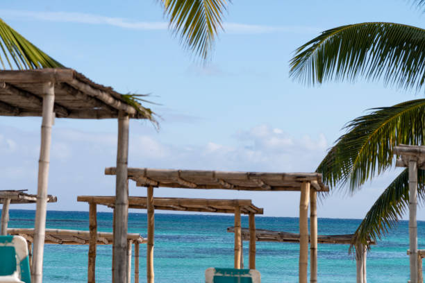 Relax in an oceanfront resort stock photo