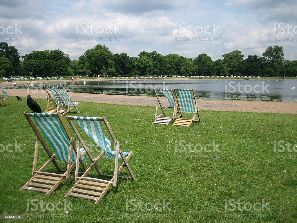 Relax in Hyde Park royalty-free stock photo