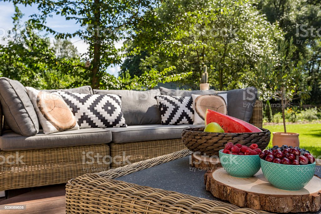 Relax in the garden... stock photo