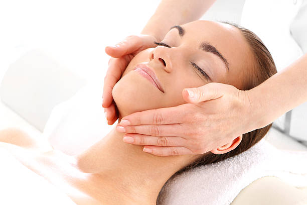 Royalty Free Facial Massage Pictures, Images and Stock