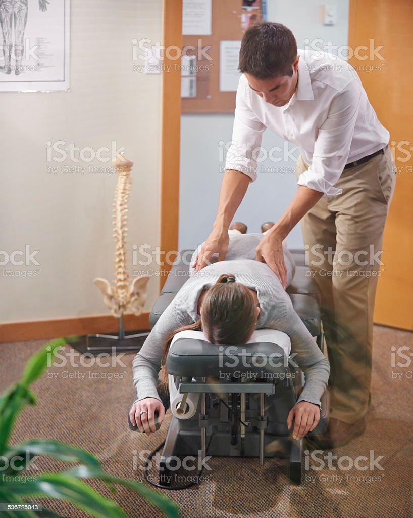 Relax, I've got your back stock photo