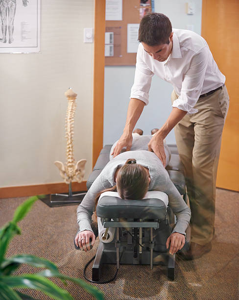 relax, i've got your back - chiropractic care stock photos and pictures