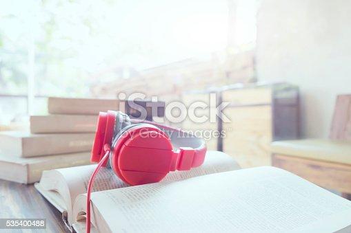 istock Relax listen music copyspace background. 535400488