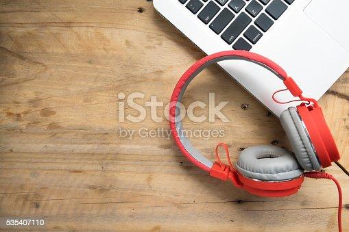 istock Relax listen music copyspace background. 535407110
