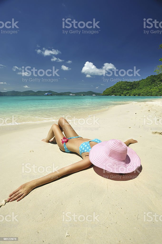 Relax on a beach royalty-free stock photo