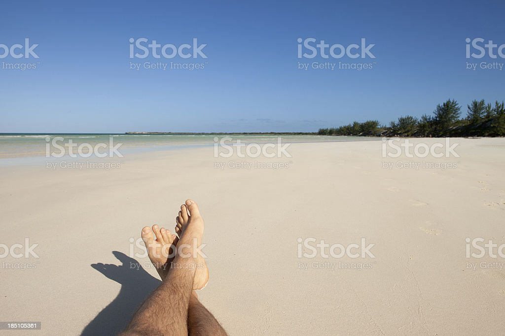 Relax on a tropical beach stock photo