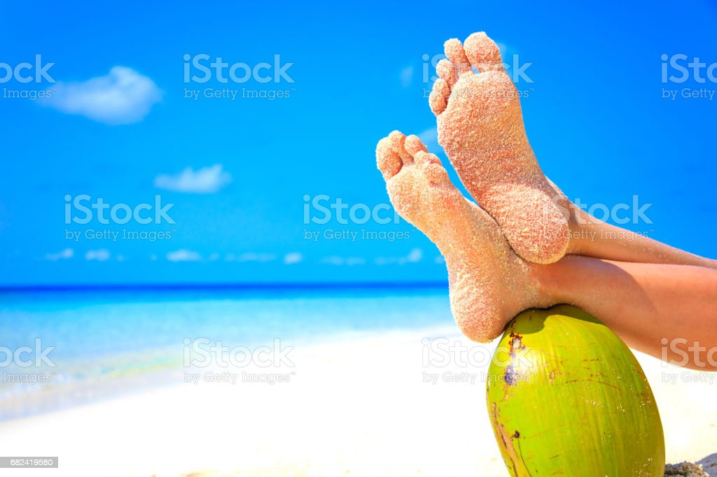 Relax on Dream Island royalty-free stock photo