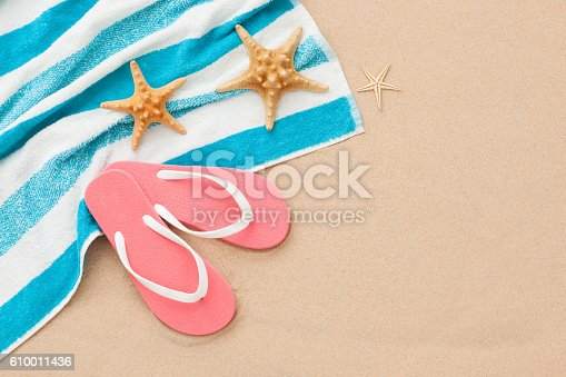 istock Relax on the beach concept background. 610011436