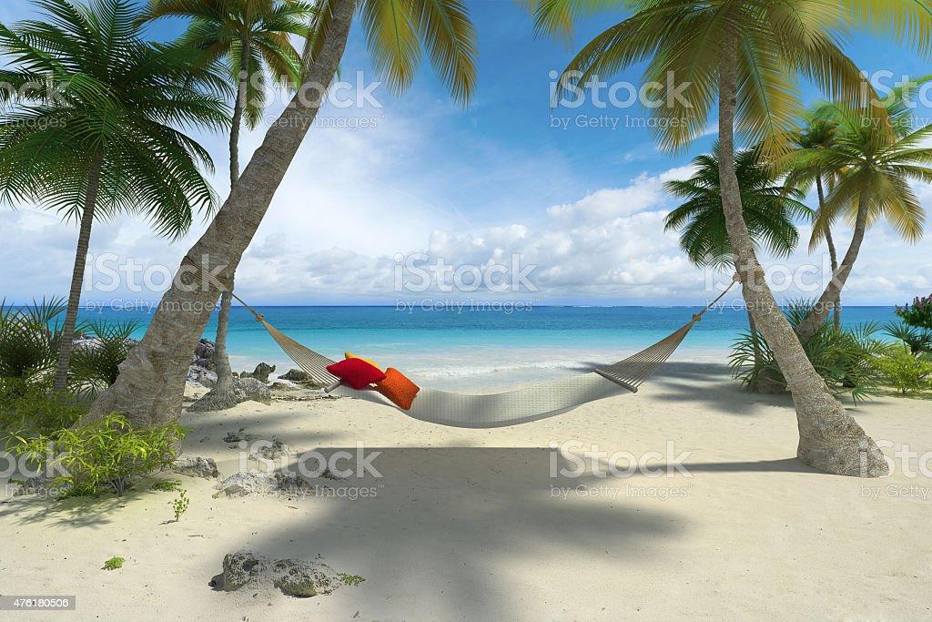 Relaxe na praia - foto de acervo