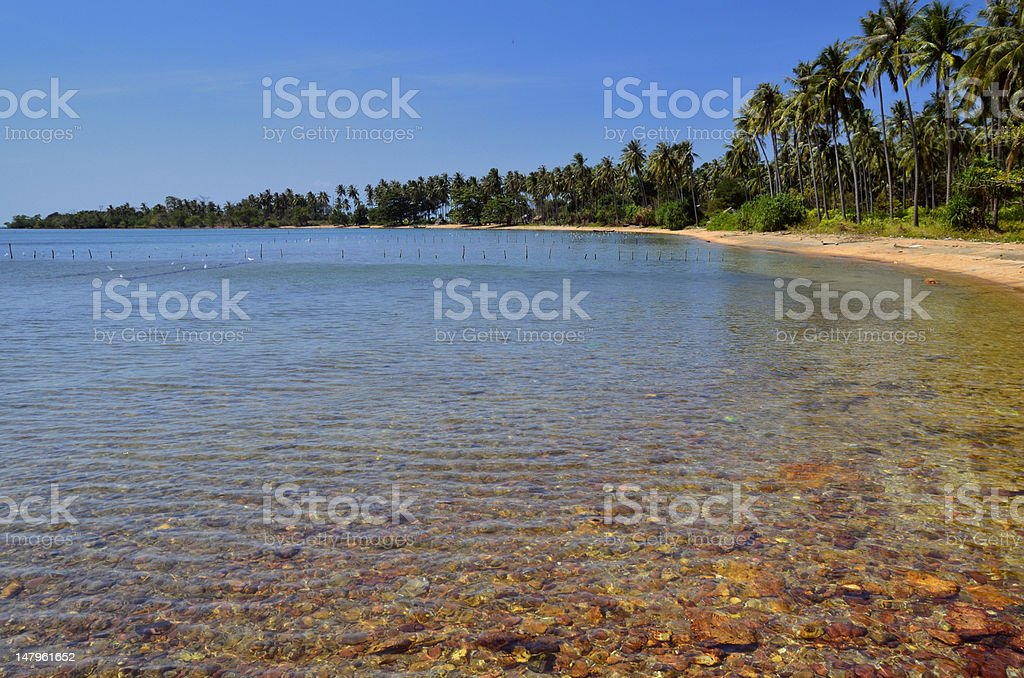 Relax sea and beach at Rabbit Island stock photo