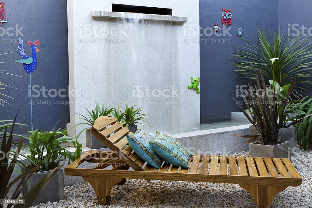 Relax time at mexicain patio stock photo