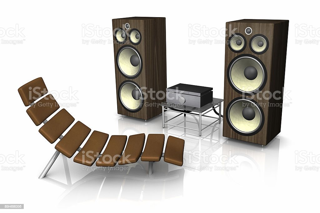 Relax to music royalty-free stock photo