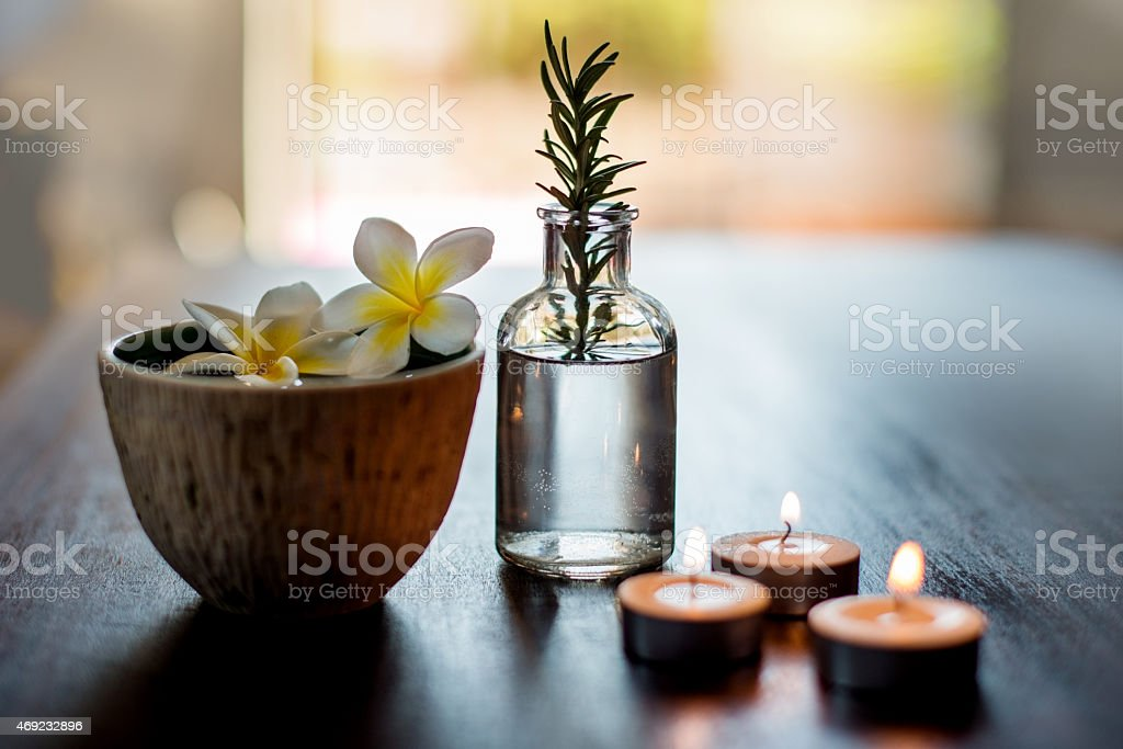 Relax with a spa package stock photo