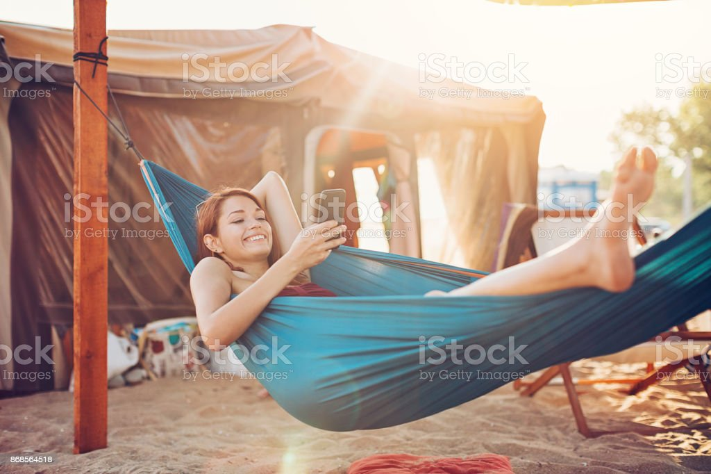 Relaxation and communication stock photo