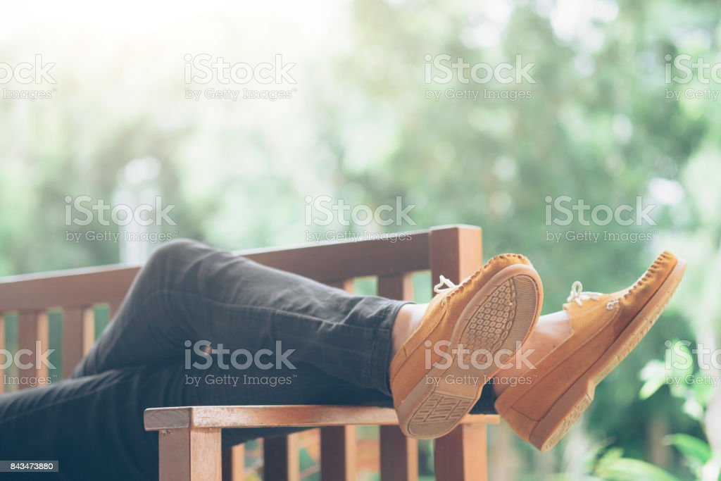 Entspannung und Outdoor-Idee-Konzept. – Foto