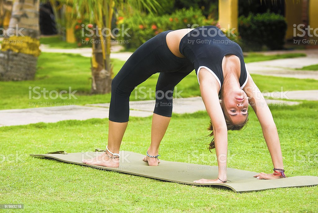 Relaxation and stretching exercises stock photo