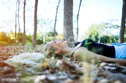 istock Relaxation At Forest 611072168