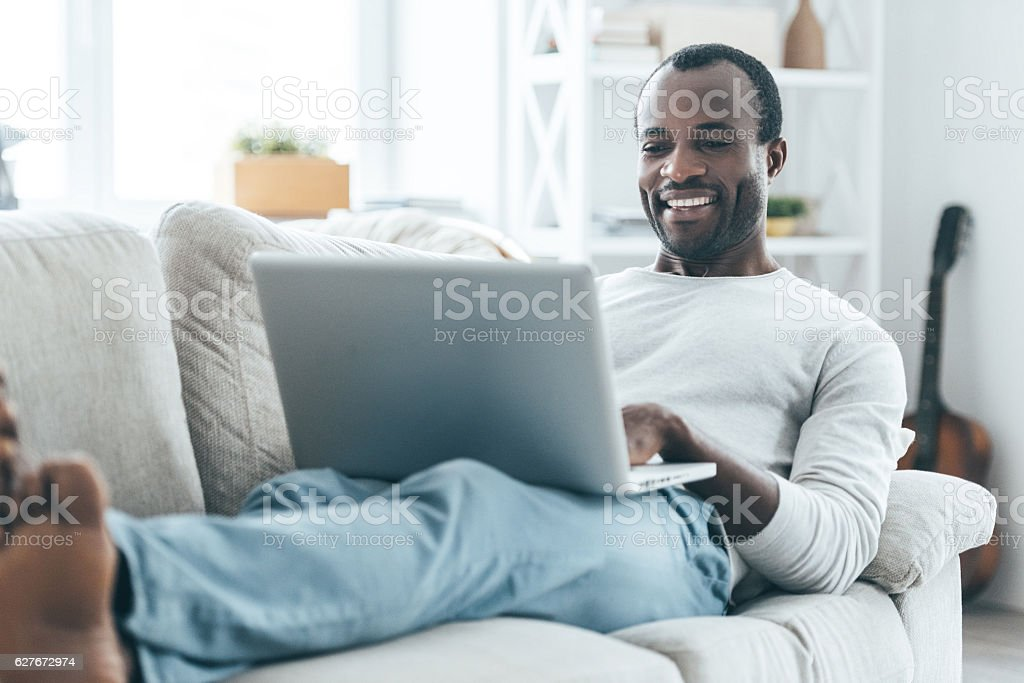 Relaxation at home. stock photo