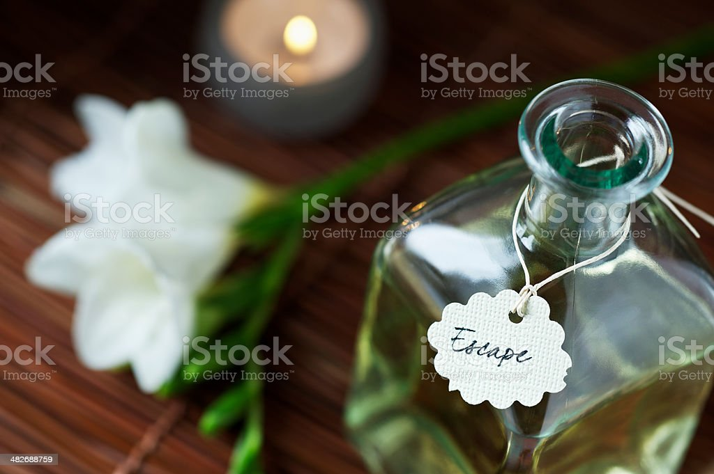 Relaxation Concept in Zen Like Spa royalty-free stock photo