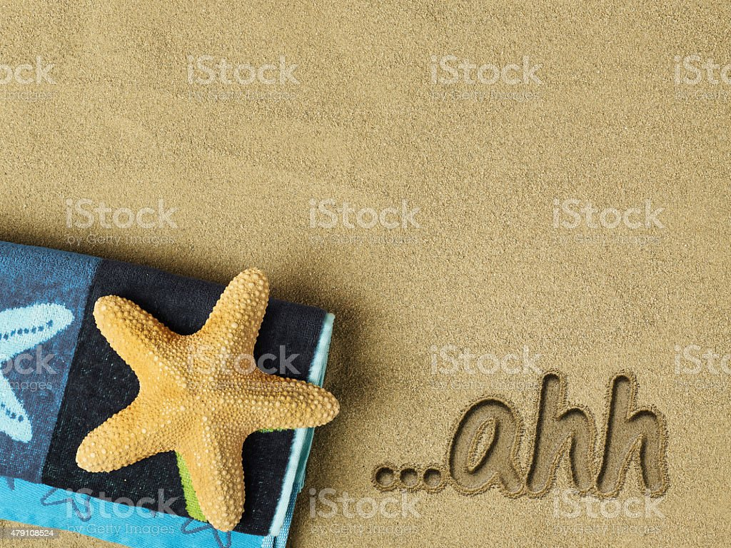 Relaxation concept on the beach stock photo