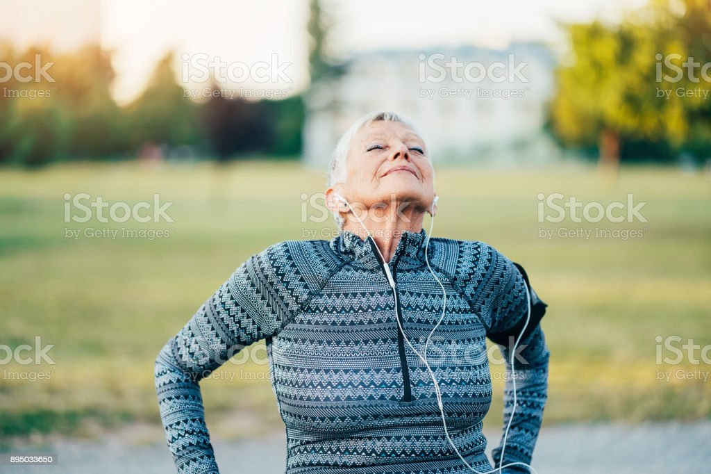 Relaxation exercise - foto stock